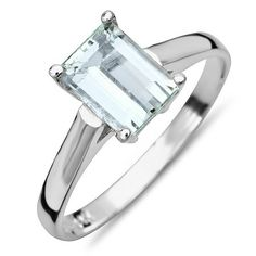 14K Aquamarine Ring