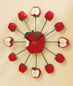 apples themed wall clock 13 blank wall clock frei