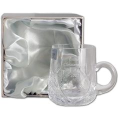 Engraved Cut Crystal Cup in Gift Box from Personalised Gifts Shop - ONLY Engraved Gifts, Personalised Gifts, Communion Gifts, Confirmation Gifts, Christening Gifts, New Baby Gifts, New Baby Products, Mugs, Crystals