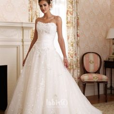 Princess Strapless Wedding Dresses