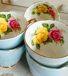 Vintage teacups are a great start to a welcomed high tea or tea anytime.  Plus, tea usually helps me make sense out of an otherwise  senseless situation.