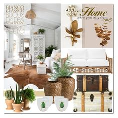 """""""Organic Design Ideas"""" by elena-777s ❤ liked on Polyvore featuring interior, interiors, interior design, home, home decor, interior decorating, Tommy Mitchell, Serena & Lily, Internoitaliano and WALL"""