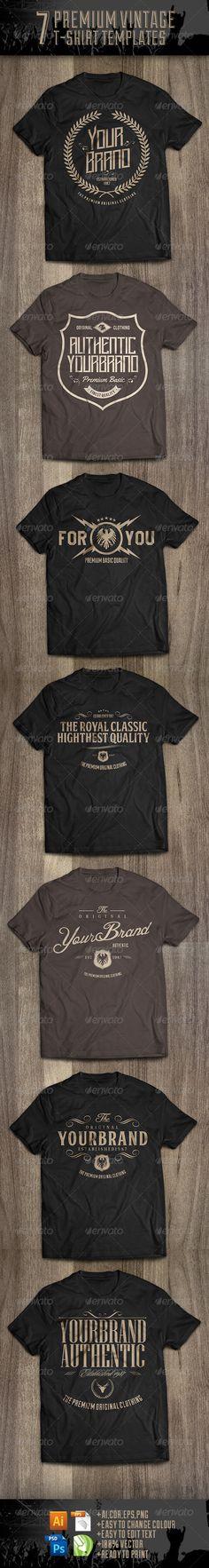 7 Premium T-Shirt Template PSD, Vector EPS, AI. Download here: http://graphicriver.net/item/7-premium-tshirt-template-v2/8568820?ref=ksioks
