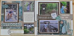 Timberline ... hot off the press with photos from Maine.  Love this kit!  Timberline is a Kit of the Month for Outdoor adventure.  Email me @ ilov2cr84u@gmail.com to create these layouts.