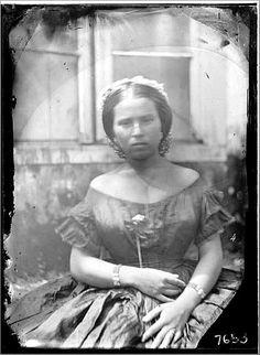 Mulher de Manaus vestida à moda européia - Missão Thayer.O Livro Viagem ao Brasil (1865-1866)