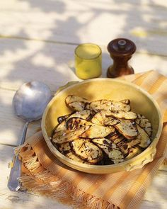 Grilled Potato Slices with Salt and Vinegar Recipe