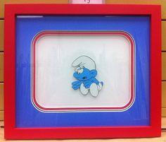 Custom framed Smurf Animation Cell. #Art #Framing
