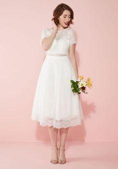 Bride and Joy Lace Dress in White | Mod Retro Vintage Dresses | ModCloth.com