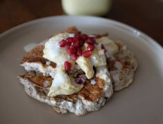 Hazelnut pancakes with coconut curd #paleo friendly