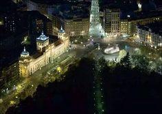 Paseo Zorrilla at night, Valladolid