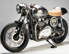 2007 Triumph Bonneville 312 by Analog Motorcycles #CafeRacer #Triumph #TonUp
