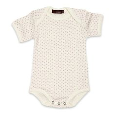 MilkBarn One Piece Onesie White with Lavender Dots