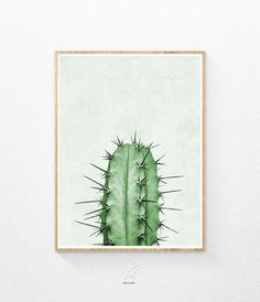 Cactus Printable  INSTANT DOWNLOAD  Print out this modern wall artwork from your home computer or local print shop to style and decorate your home or
