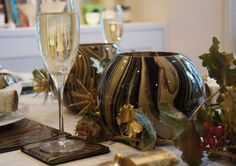 Black Gold Glamour at the dinner table by Melodesigns...