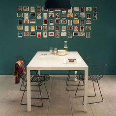 wall with photo frames
