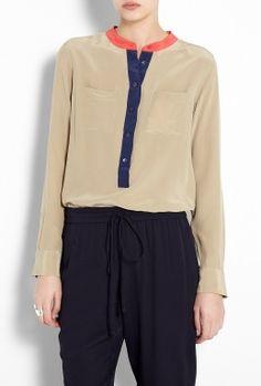Coriander Ava Silk Shirt by Equipment