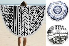 Just in time for summer trips to the beach, check out these adorable rounded tassel beach towels for 60% off!