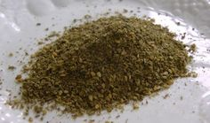 Zatar, or za'atar, is the Middle Eastern name for a family of herbs that includes oregano, thyme and marjoram. The way I know za'atar, though, is as a spice mixture that starts with those herbs — ground up — and adds toasted sesame seeds and salt. Sometimes, people add ground sumac, too. Mmm… Ever had it? | GNOWFGLINS.com