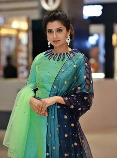 Neck Design for Kurti - The handmade craft Chudidhar Neck Designs, Churidhar Designs, Neck Designs For Suits, Neckline Designs, Dress Neck Designs, Sleeve Designs, Salwar Suit Neck Designs, Kurta Neck Design, Saree Blouse Neck Designs
