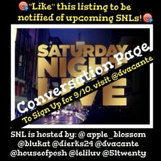 """SNL Share Group Tonight In My Closet! Join Me? Saturday Night Live is an impromptu share group. It rotates closets through all our hosts. If you would like to be notified when and where the next one takes place, just """"like"""" their listing. If you would like to invite others or have questions, please do it HERE. We will share 3 items from each closet. Sign In Closes at 9pm EST. Everyone is Welcome to Join Us! Vintage Jewelry"""