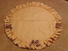 Love this no sew tree skirt