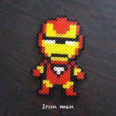 Iron man en perles à repasser (beads)