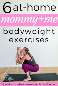 as a new mom i know that finding time to workout is hard. enter this 15 minute mommy + me workout; 6 exercises you can do at home with your baby! New Mom Workout, Post Baby Workout, Post Pregnancy Workout, Fat Workout, Pregnancy Fitness, Fit Pregnancy, Mama Baby, Baby Fat, Mommy And Me