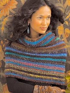 I love the colors of this yarn, but more than that I love the simple, yet elegant design.  If I don't make this for myself, I will make it as a gift for someone.