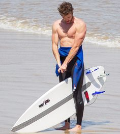 Liam Hemsworth Flexes Muscles, Showers in Amazingly Hot Surf Photos - http://www.hollywoodfame.com/liam-hemsworth-flexes-muscles-showers-in-amazingly-hot-surf-photos.html