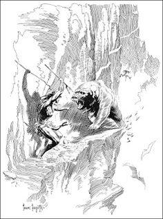 The Golden Age: Frank Frazetta ~ Tarzan at the Earth's Core by Edgar Rice Burroughs