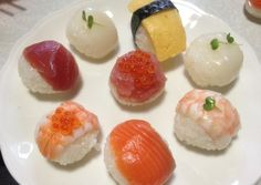 Temari Sushi. Have fun making these small sushi balls with your kids.
