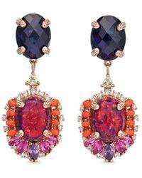 Anabela Chan | 'opals Violet' Detachable Gemstone 18k Rose Gold Drop Earrings | Lyst