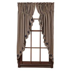 Add grace to your room when you cover your windows with our Navy Star prairie curtains along with other decor from Primitive Star Quilt Shop.