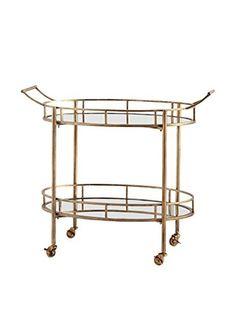Mercana Grinto Bar Cart, Gold
