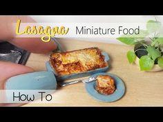 Miniature Lasagna Tutorial // Dolls/Dollhouse DIY - YouTube