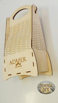 """Playwood box """"Present Bag Elegant"""" by SiberianDIYcraftsArt on Etsy"""