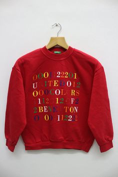 d31b502f6e8 Vintage BENETTON United Colors Of Benetton Sweatshirt Sweater Benetton