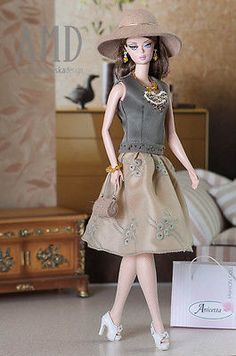 Anicetta OOAK fashion for Silkstone Barbie, Fashion Royalty. in Dolls & Bears, Dolls, Barbie Contemporary (1973-Now) | eBay