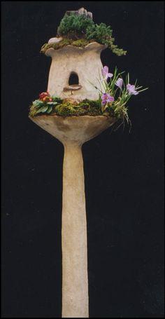 Birdhouse terraform sculpture by Robert Cannon