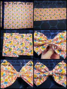 hair bows Bow Tutorial - Craft ~ Your ~ Home Bow Tutorial - Craft ~ Your ~ Home Fabric Bow Tutorial, Hair Bow Tutorial, Craft Tutorials, Sewing Tutorials, Sewing Crafts, Diy Baby Headbands, Baby Hair Bows, Fabric Hair Bows, Ribbon Hair