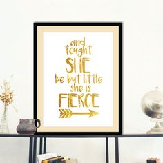 Inspirational quote And tought she be... by HappyHouseNo1 on Etsy
