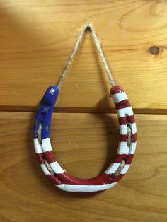 American horseshoe Hand-painted horseshoe by tnCraftyCowgirls