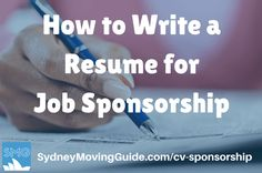 How to Write a Resume for a Job with Sponsorship for Australia