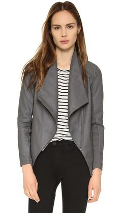 BB Dakota Murphy Jacket || love this in grey & toffee