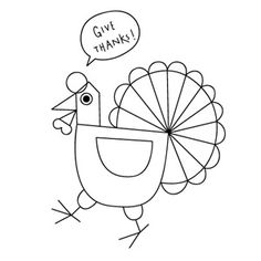 Free Printable Coloring Pages - Mr Printables (Thanksgiving)