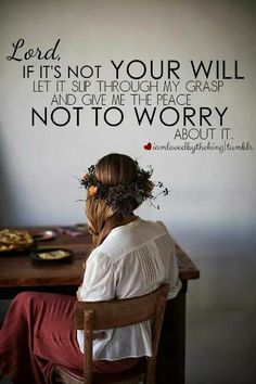 I need my energy for happier things in life, rather than worries...
