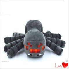 2015 New Arrival Minecraft Plush Toys 16CM Gray Spider Plush Stuffed Toys Kids Children Favor Dolls Cheap Plush Toy Boy Gift
