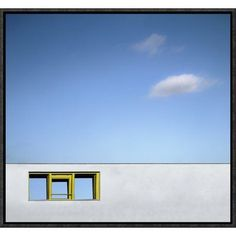 "Global Gallery 'Yellow Window' by Gilbert Claes Framed Photographic Print Size: 33"" H x 36"" W x 1.5"" D"