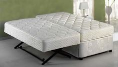 Twin bed with trundle pop up inspiring ideas Pop Up Trundle Bed, Trundle Bed Mattress, Twin Xl Mattress, Mattresses, One Room Flat, Fold Up Beds, Murphy Bed Plans, Murphy Beds, Cama Box