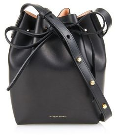 Mansur Gavriel Mini Mini pink-lined leather shoulder bag